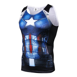 Captain America Civil War Fitted Sleeveless T-Shirt Tank Top