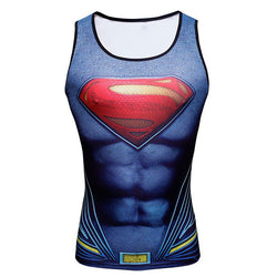 Superman Dawn of Justice Fitted Sleeveless T-Shirt Tank Top