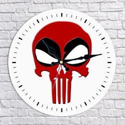 The Punisher Deadpool Wall Clock