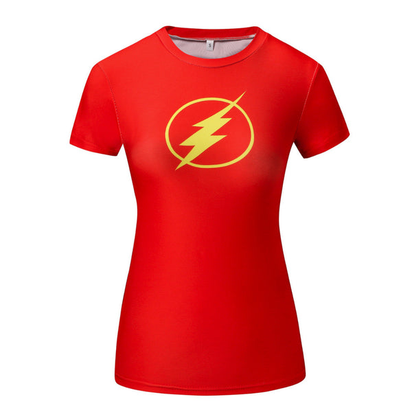 The Flash Women's Compression Fitted Short Sleeve T-Shirt