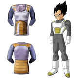 Vegeta Resurrection F Armor Men's Compression Fitted Long Sleeve T-Shirt