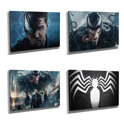 Eddie Brock Venom Framed Photo Canvas Print