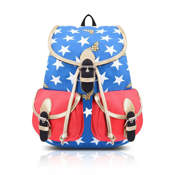 Wonder Woman Comic Style Backpack Rucksack