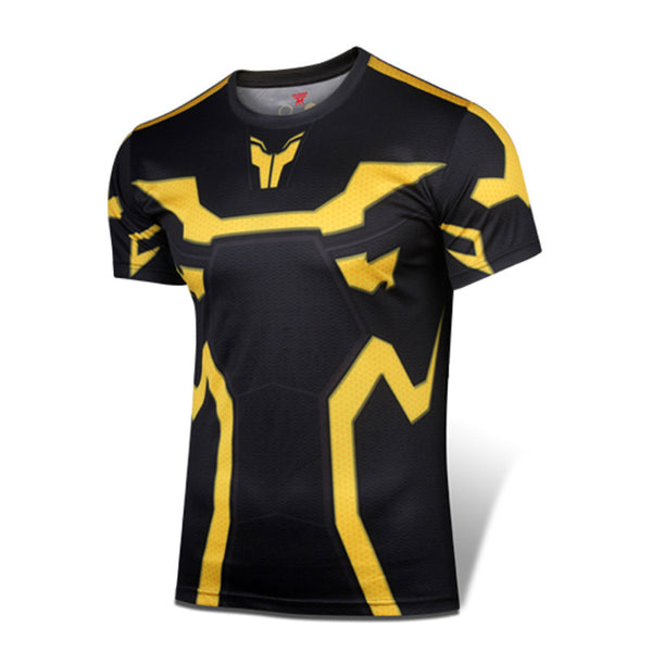 Yellow Jacket Ant-Man Men's Compression Fitted Short Sleeve T-Shirt