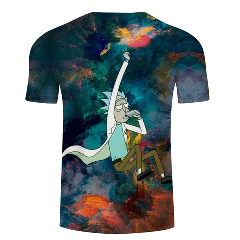 Drinking Rick Sanchez Galaxy All-Over Short Sleeve T-Shirt