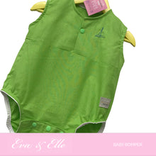 Load image into Gallery viewer, Baby Rompers in Apple Green - NZ Made