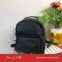 Load image into Gallery viewer, Black - Fashionable Leather Backpack