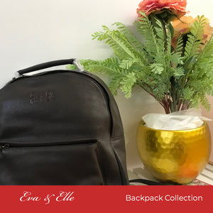 Chestnut Brown - Fashionable Leather Backpack