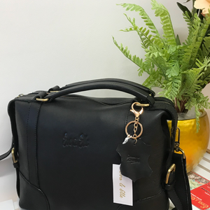 Black - Leather Fashion Handbag