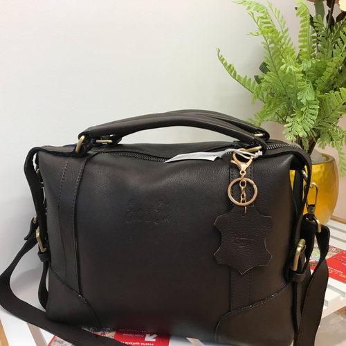 Chestnut Brown - Leather Fashion Handbag