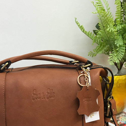 Tan - Leather Fashion Handbag