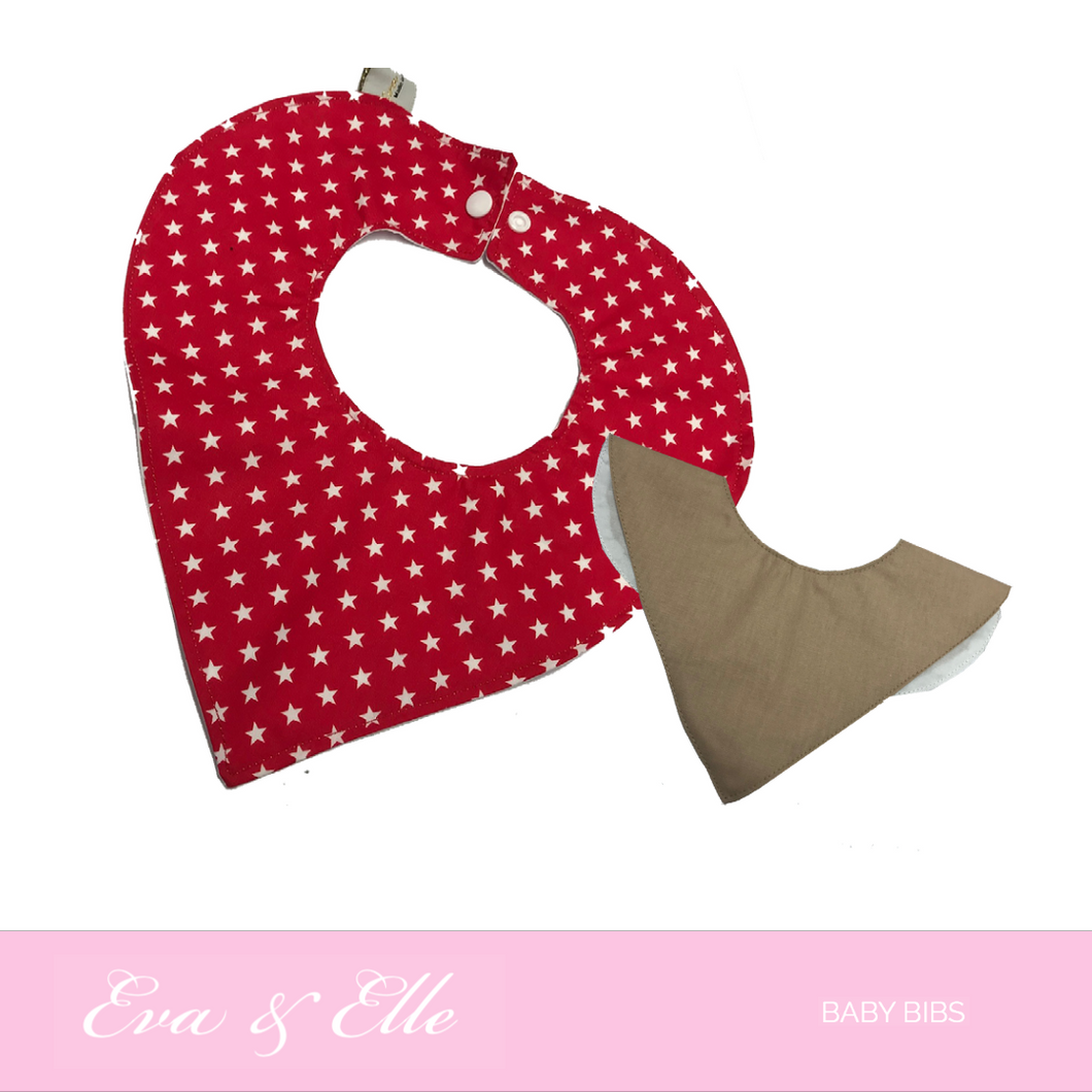 Assorted Baby Bibs with Muslin