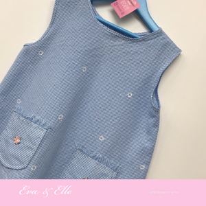 Little 'Blue Checkered' Dress for 3 -4 yrs