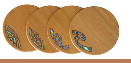 Kauri Mixed Koru Coasters