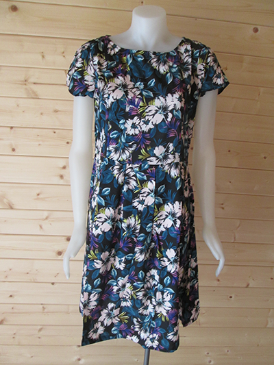 Peacock Coloured Floral print design dress