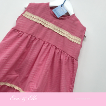 Load image into Gallery viewer, Little Gingham dress without sleeves for 3 -6 years