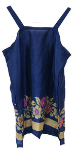 Strap Top in royal blue  colour