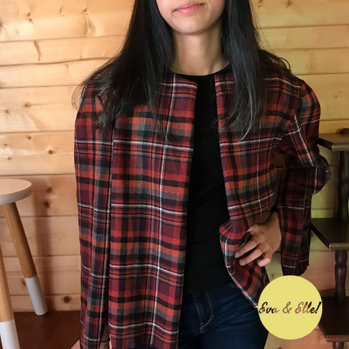 WOMEN'S CHECK JACKET