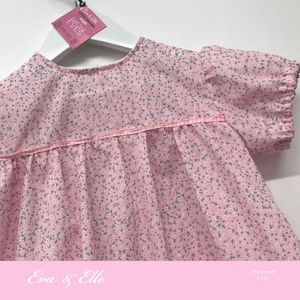 Little Dresses  in pink floral print - 2 - 3 years