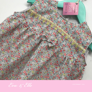 Little Dresses  in yellow trims - 12mths to 24 mths