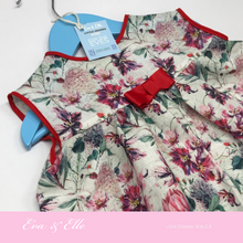 Load image into Gallery viewer, Little Red Linen Print Dress for Toddler