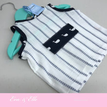 Load image into Gallery viewer, Little Blue Stripes with Appliqué for Newborn