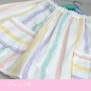 Little Skirt in Stripes print for 6 - 8years