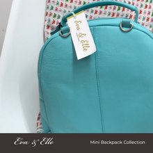 Load image into Gallery viewer, Sky Blue - Leather Mini Backpack