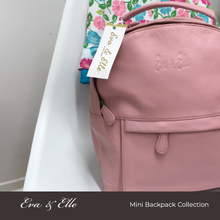 Load image into Gallery viewer, Baby Pink - Leather Mini Backpack