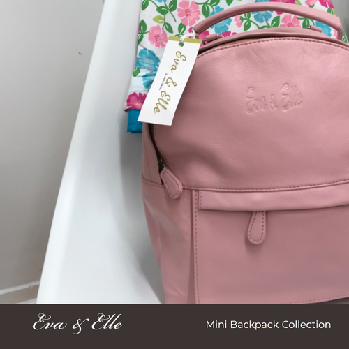 Baby Pink - Leather Mini Backpack