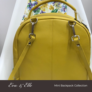 Sunshine Yellow - Leather Mini Backpack