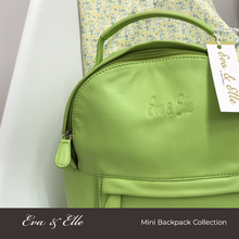 Load image into Gallery viewer, Neon Green - Leather Mini Backpack