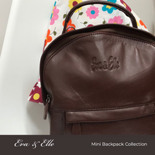 Load image into Gallery viewer, Burgundy - Leather Mini Backpack