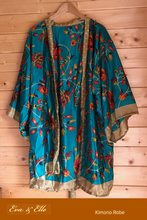 Load image into Gallery viewer, Kimono Robe - Bluish Green