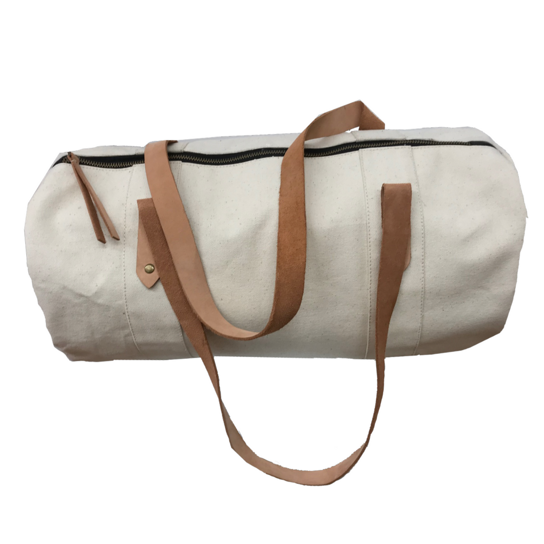 E&E White Duffel Bag