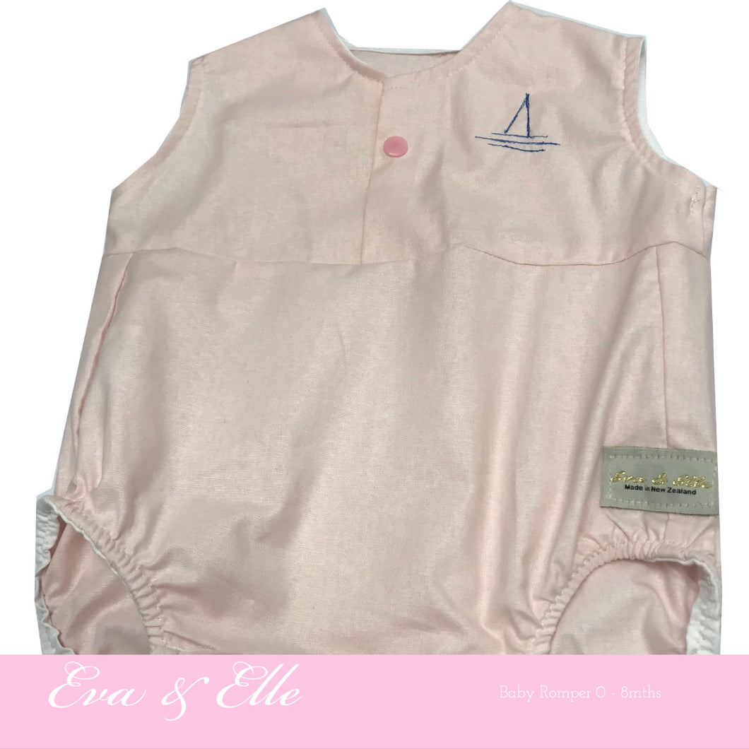 Baby Rompers in Light Pink - NZ Made