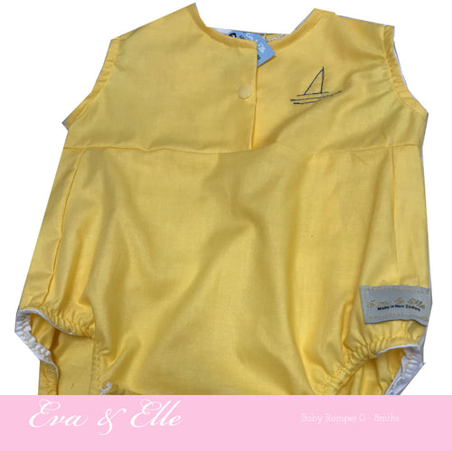 Baby Rompers in Yellow - NZ Made