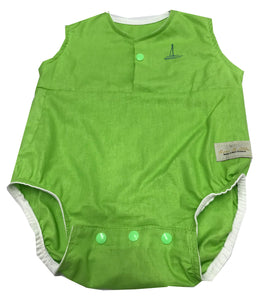 Baby Rompers in Apple Green - NZ Made