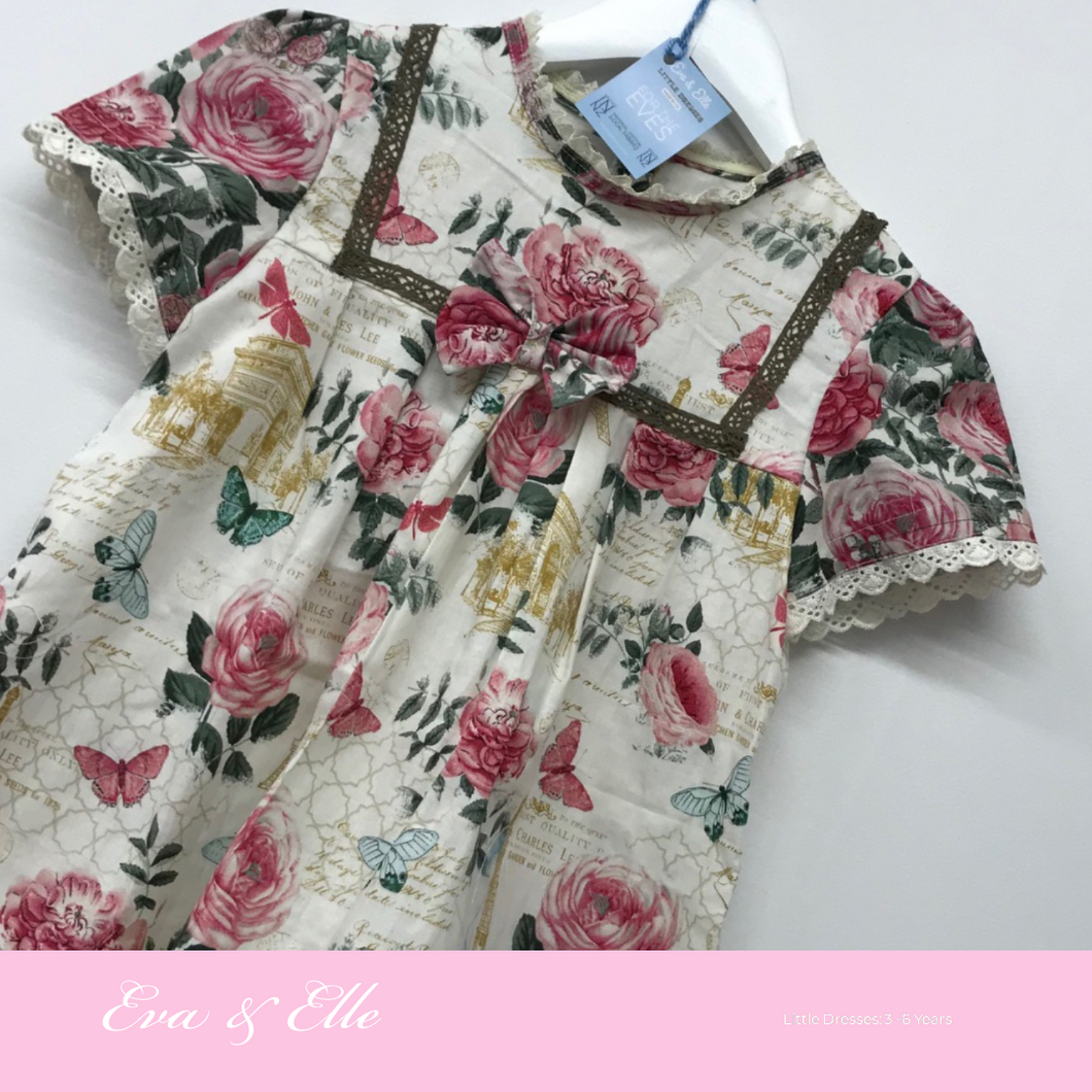 Little Dresses -City of Romance collection for 3 -6 years in two design prints