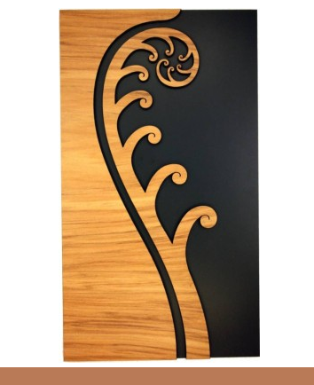Koru - Wall Art in Rimu