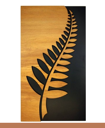 Fern - Wall Art in Rimu