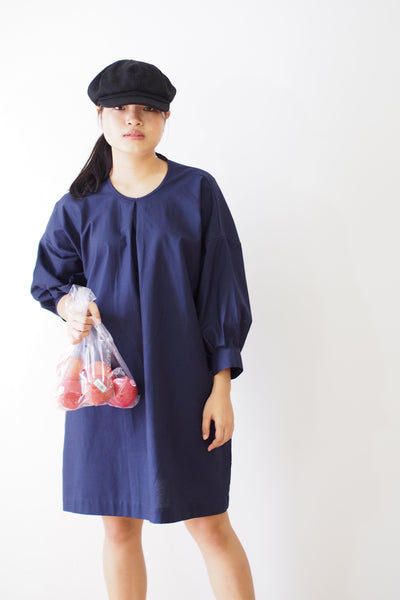 Three-Quarter Puff Sleeve Dress