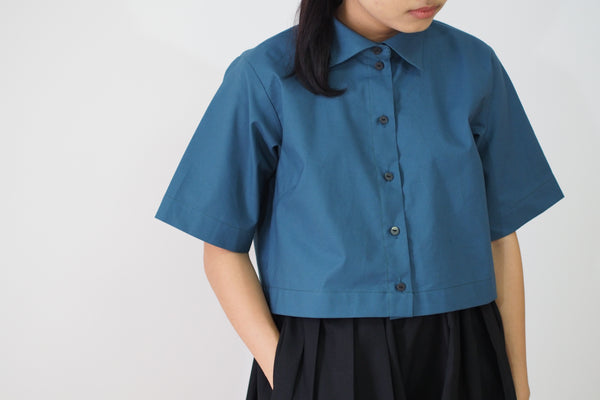 Short Sleeve Crop Shirt