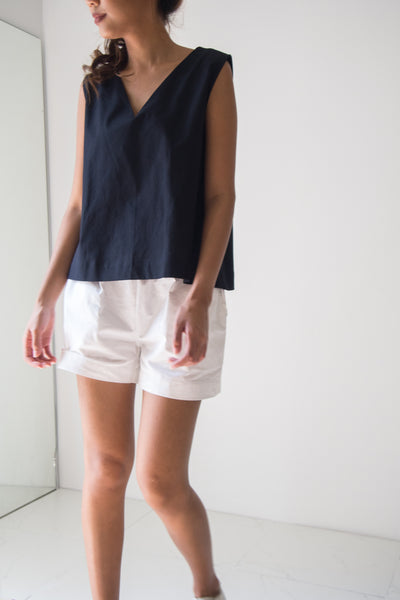 Wide Top Sleeveless with V Neck