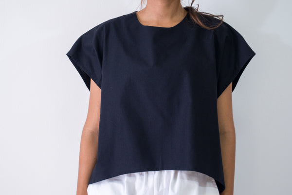 Curve Hem Square Crop Top