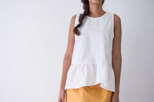 Gathering Hem Tank Top