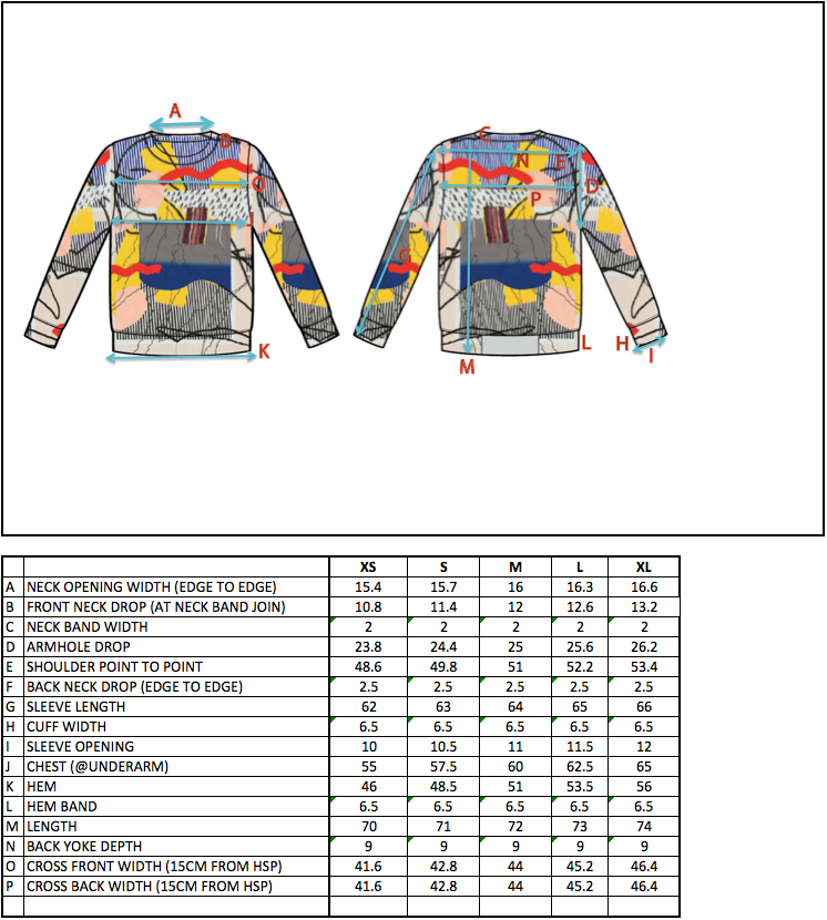 COCURATA FW15 ABSTRACTION TRUDY BENSON SWEAT SIZE CHART george benias george gorrow art fashion denim t-shirt tee knit scarf paul insect bast trudy benson misaki kawai donald baechler rostarr evan gruzis matt jones steve more michael dotson brian willmont josh reames デニム ブランド 通販 ニット パーカー パンツ Tシャツ スカート ドレス メンズ レディーズ アート 芸術 美術 ファッション 洋服