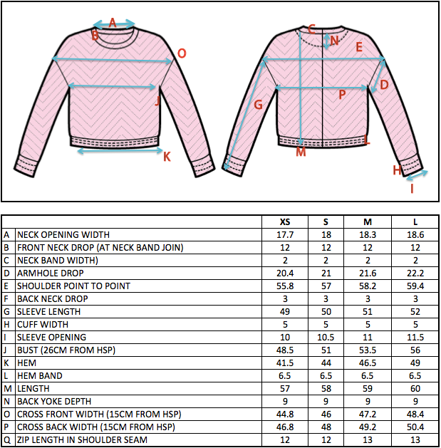 COCURATA FW15 ABSTRACTION SYNTAX JACQUARD JUMPER SIZE CHART