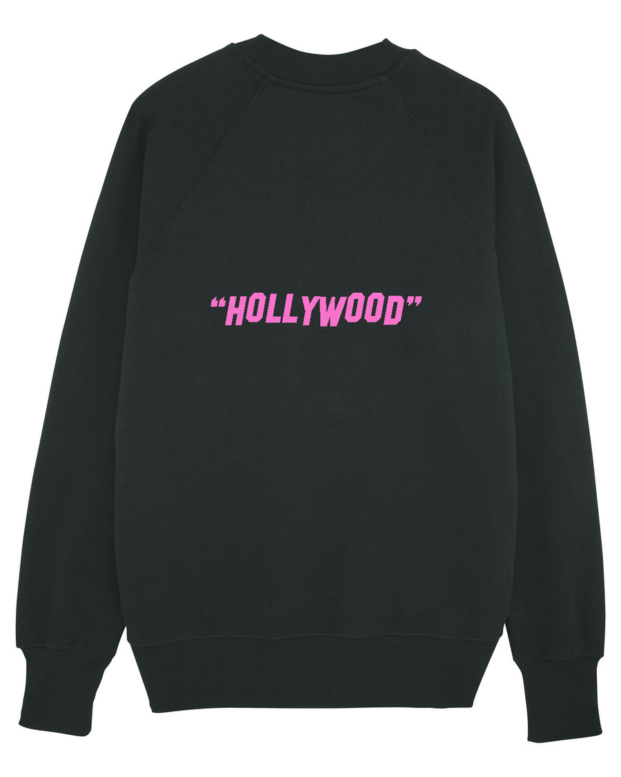 """GOOD LUCK"" - MENS SWEATSHIRT - BLACK / PINK"