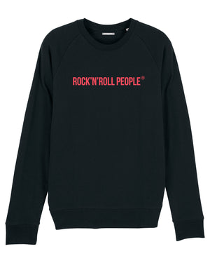 "MENS ""TIMELESS"" CREWNECK SWEATSHIRT - BLACK + BRIGHT RED"